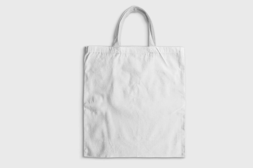 White Free Canvas Bag Mockup PSD Template