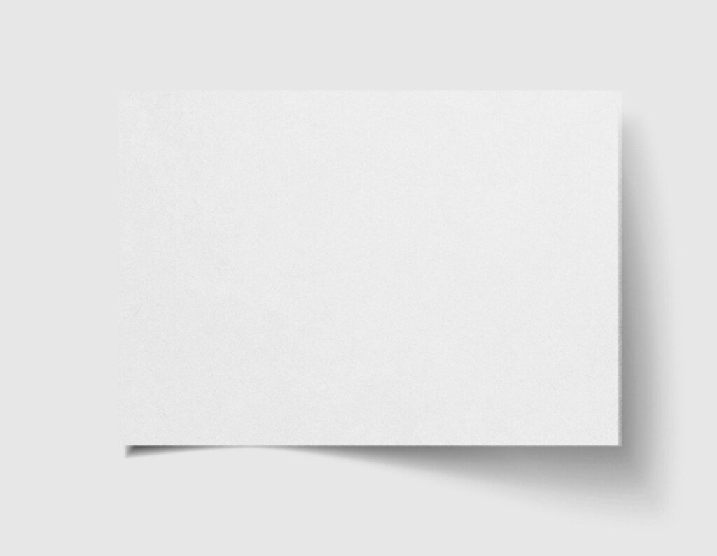 White Free Craft Paper Mockup PSD Template
