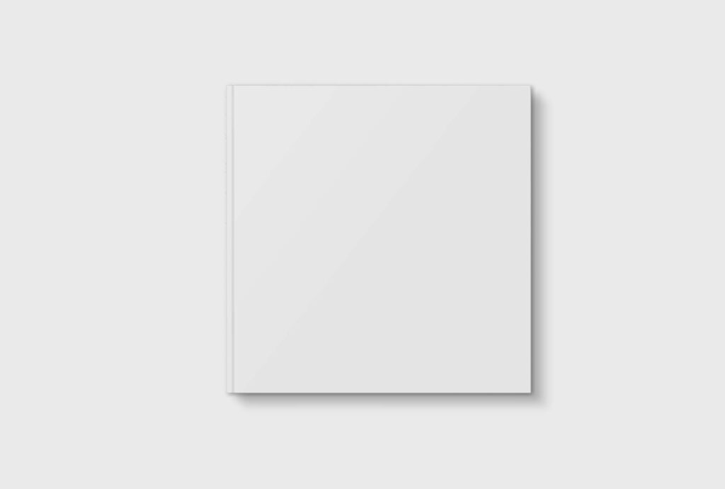 White Free Square Book Mockup PSD Template