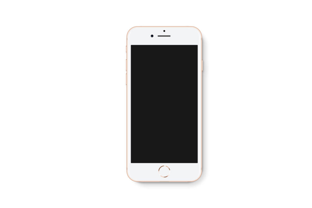 White Free iPhone8 Mockup PSD Template