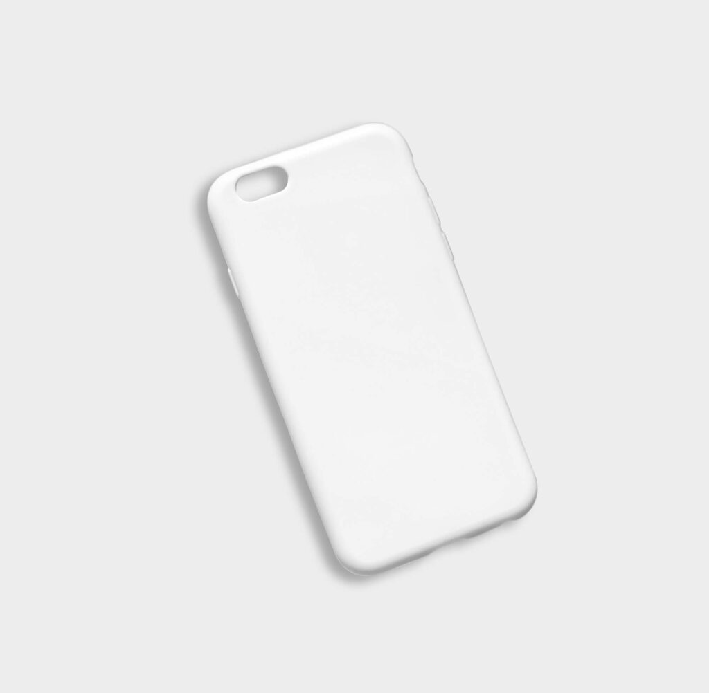 White Free iPhone Cover Mockup PSD Template
