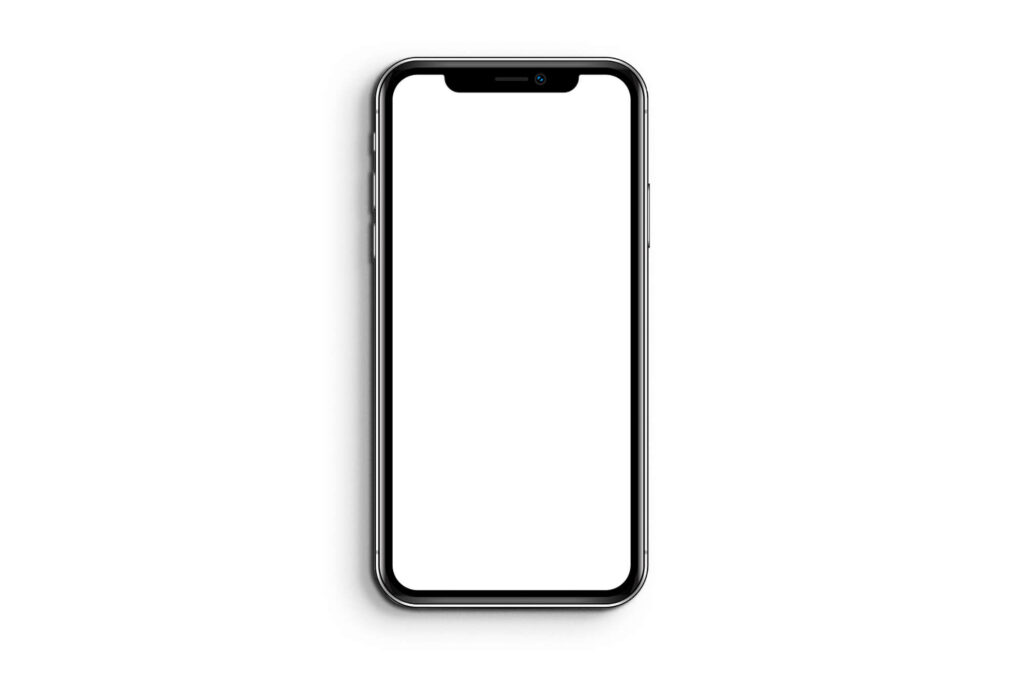 White Free iphone x Screen Mockup PSD Template (1)
