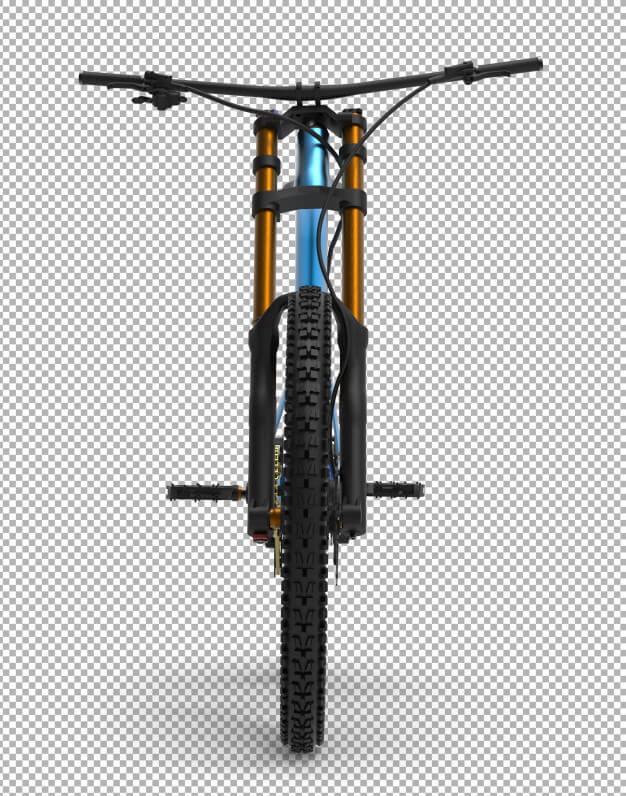 3d bicycle isolated. Premium Psd (1)