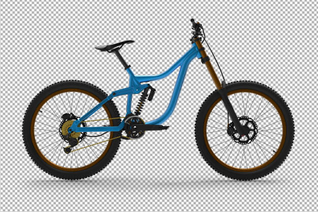 3d bicycle isolated. Premium Psd (2)
