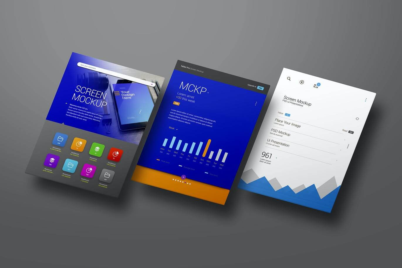 APP UI Screen Mockup Tablet Perspective Mockup