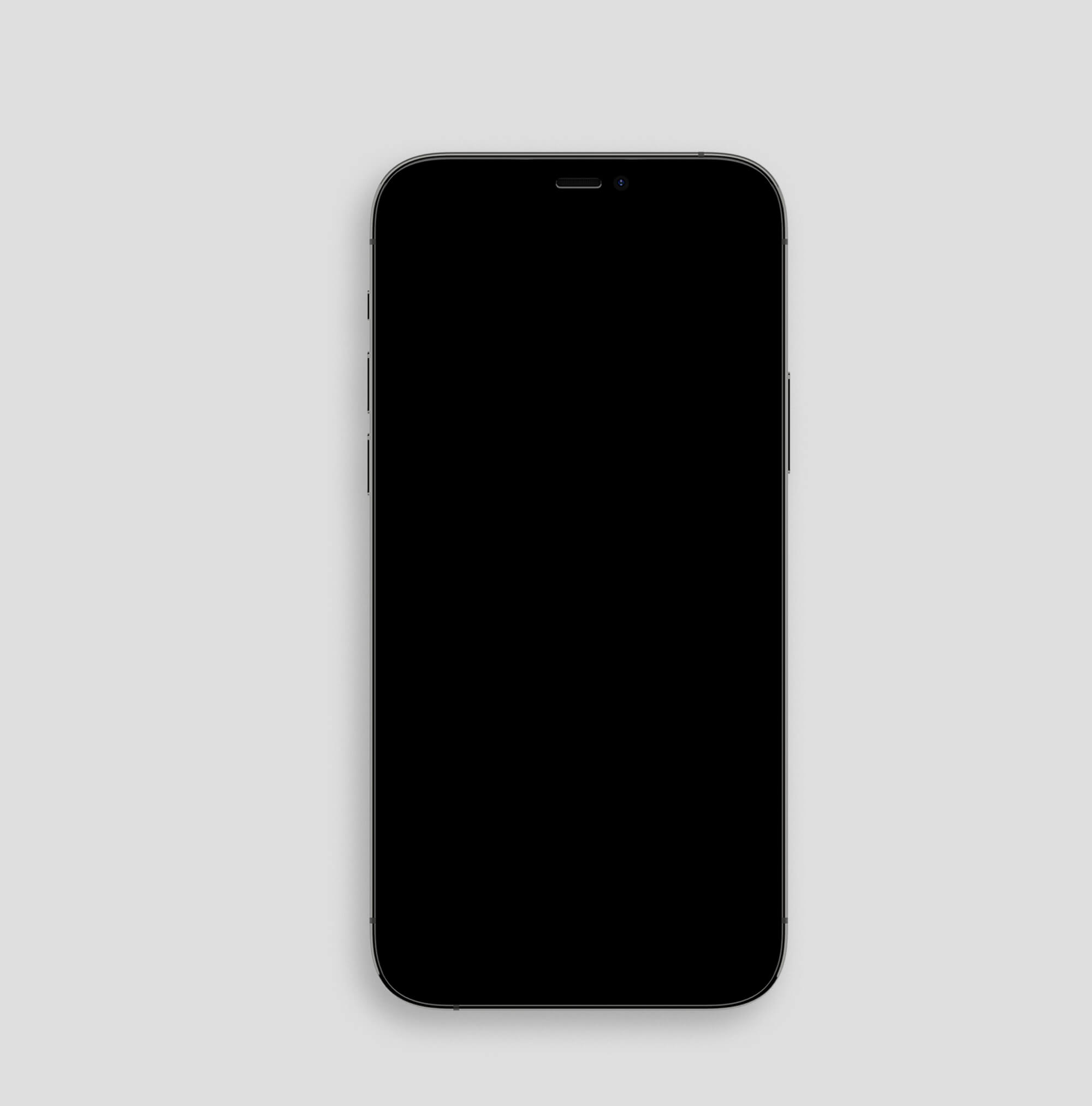 Blank Free Black iPhone Mockup PSD Template