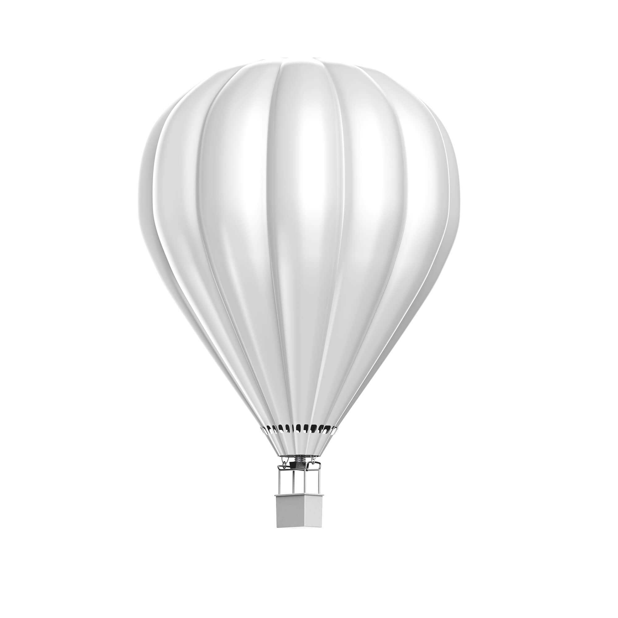 Blank Free Hot Air Balloon Mockup PSD Template