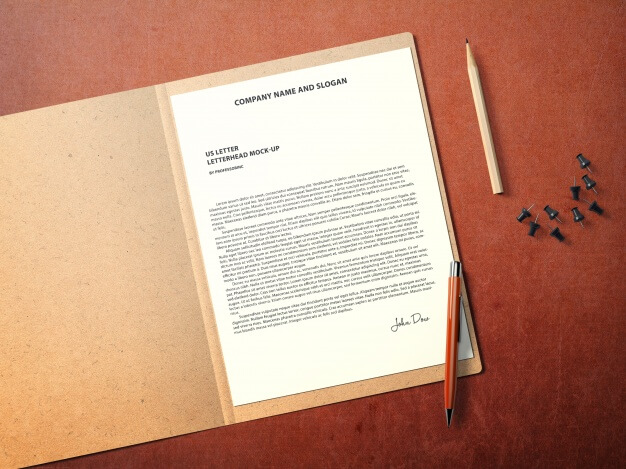 Business document mock up Free Psd