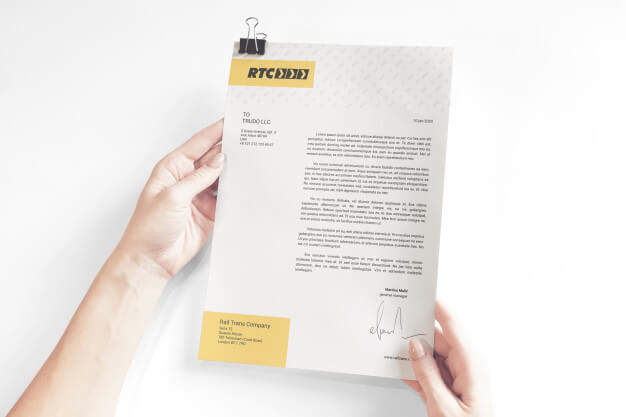 Business documents with clip mockup Premium Psd