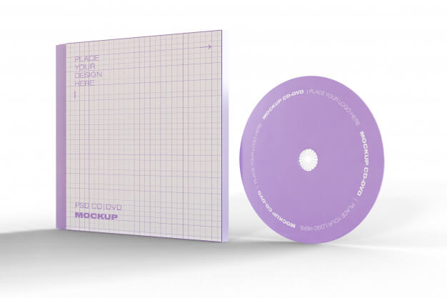 Cd and case mockup Free Psd (2)