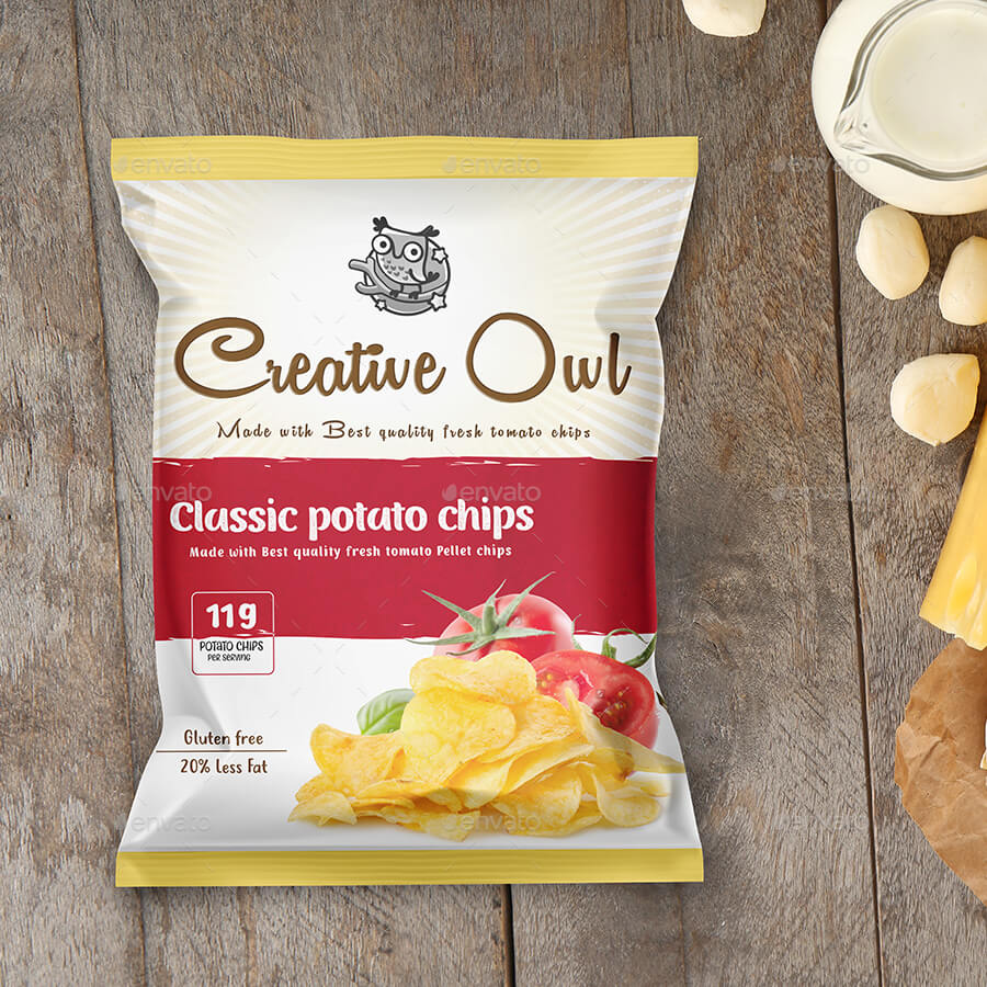 Chips, Snack and Pouch Packet Mockup