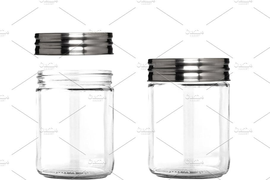 Clear Glass Jar with Metal Lid