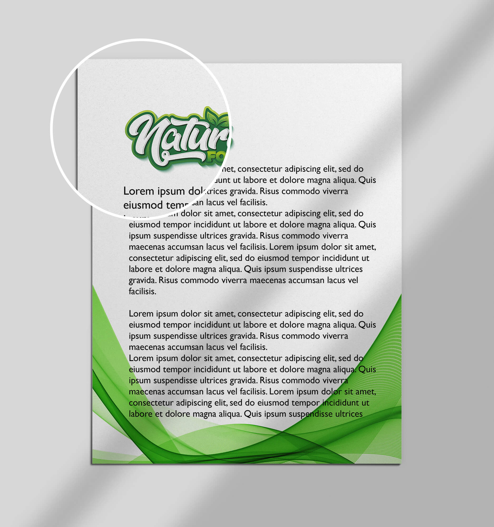 Close Up Of a Free Document Mockup PSD Template
