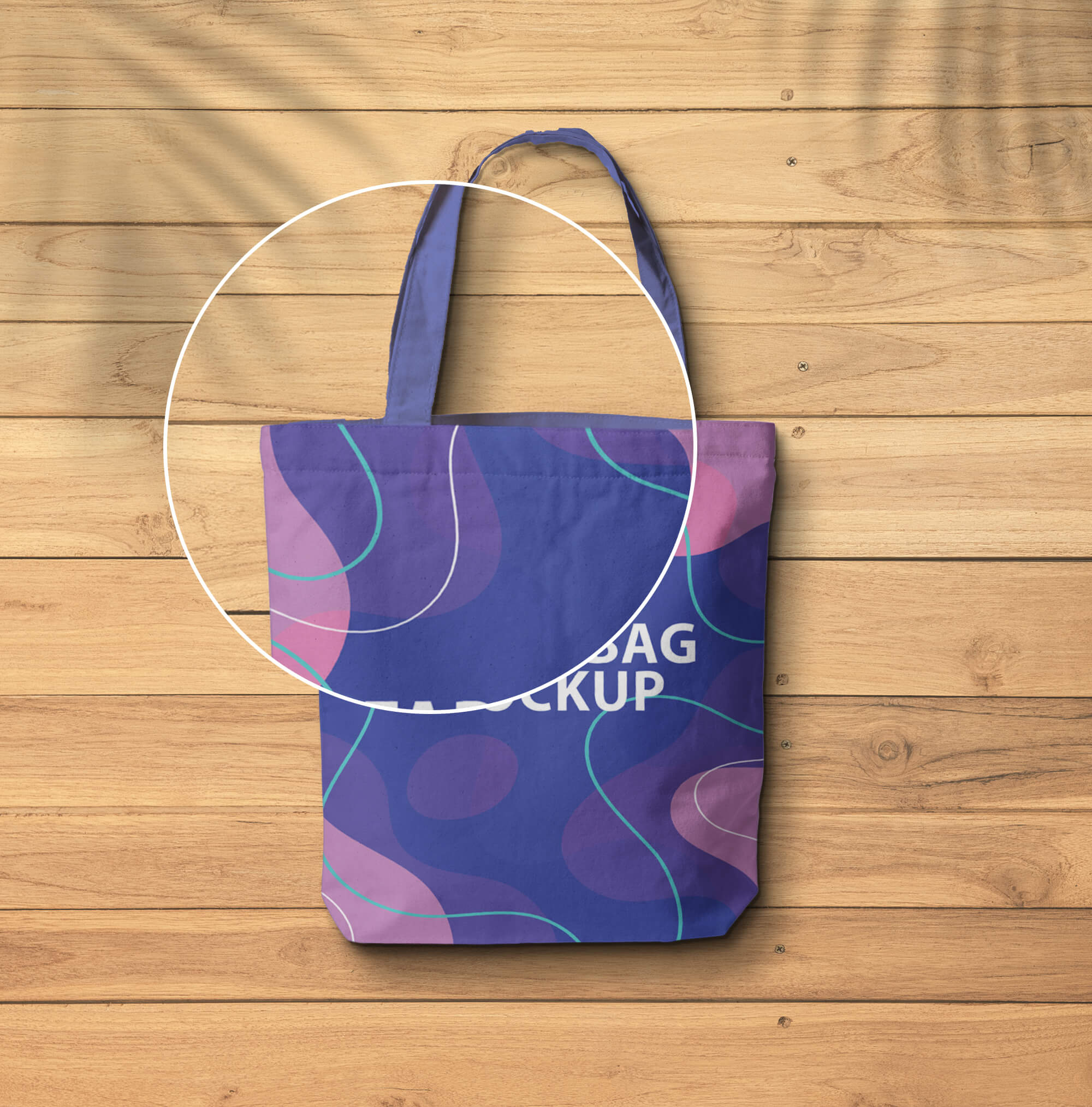 Close Up Of a Free Fabric Bag Mockup PSD Template