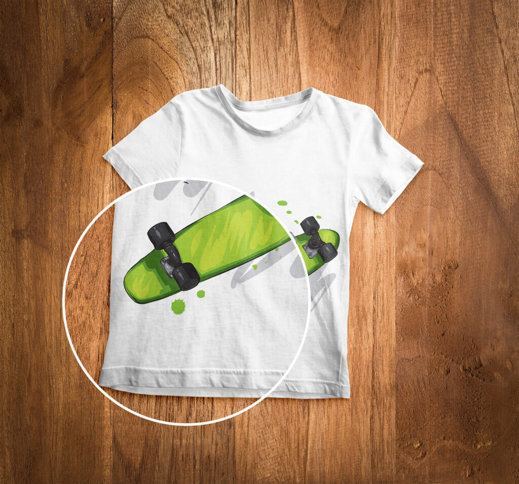 Close Up Of a Free T Shirt Kids Mockup PSD Template