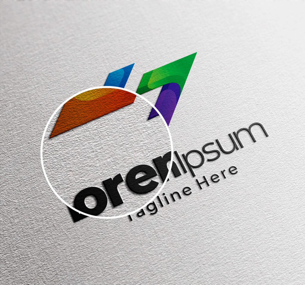 Close Up of a Free Logo Stationery Mockup PSD Template