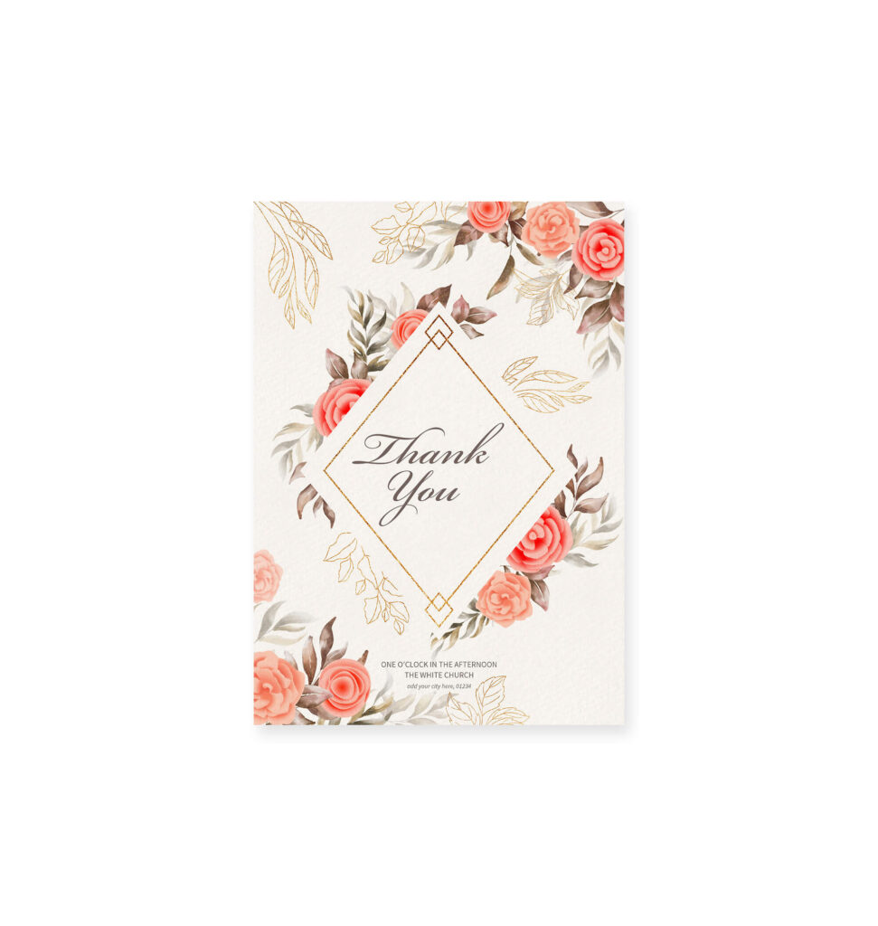 Design Free Thank You Card Mockup PSD Template