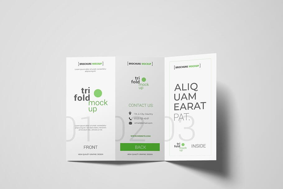 DL Tri-fold Brochure Flyer Mockup
