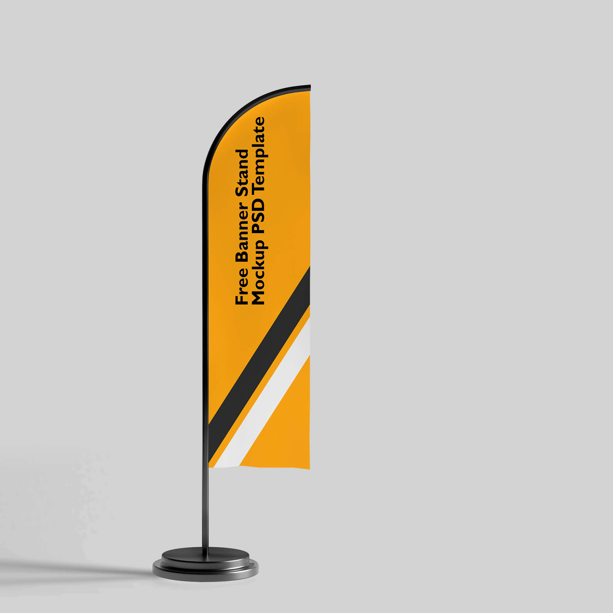 Design Free Banner Stand Mockup PSD Template