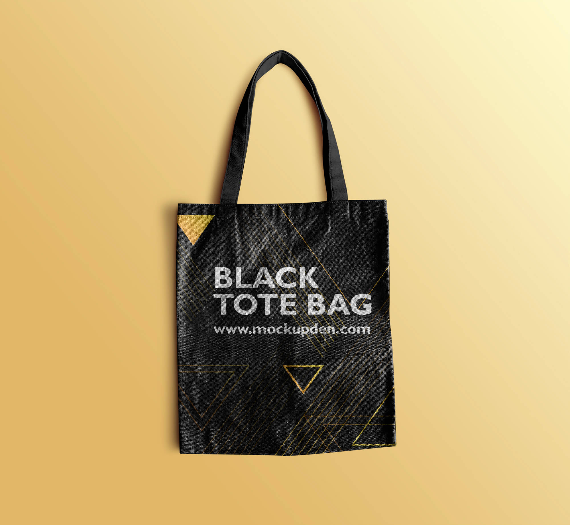 Design Free Black Tote Bag Mockup PSD Template