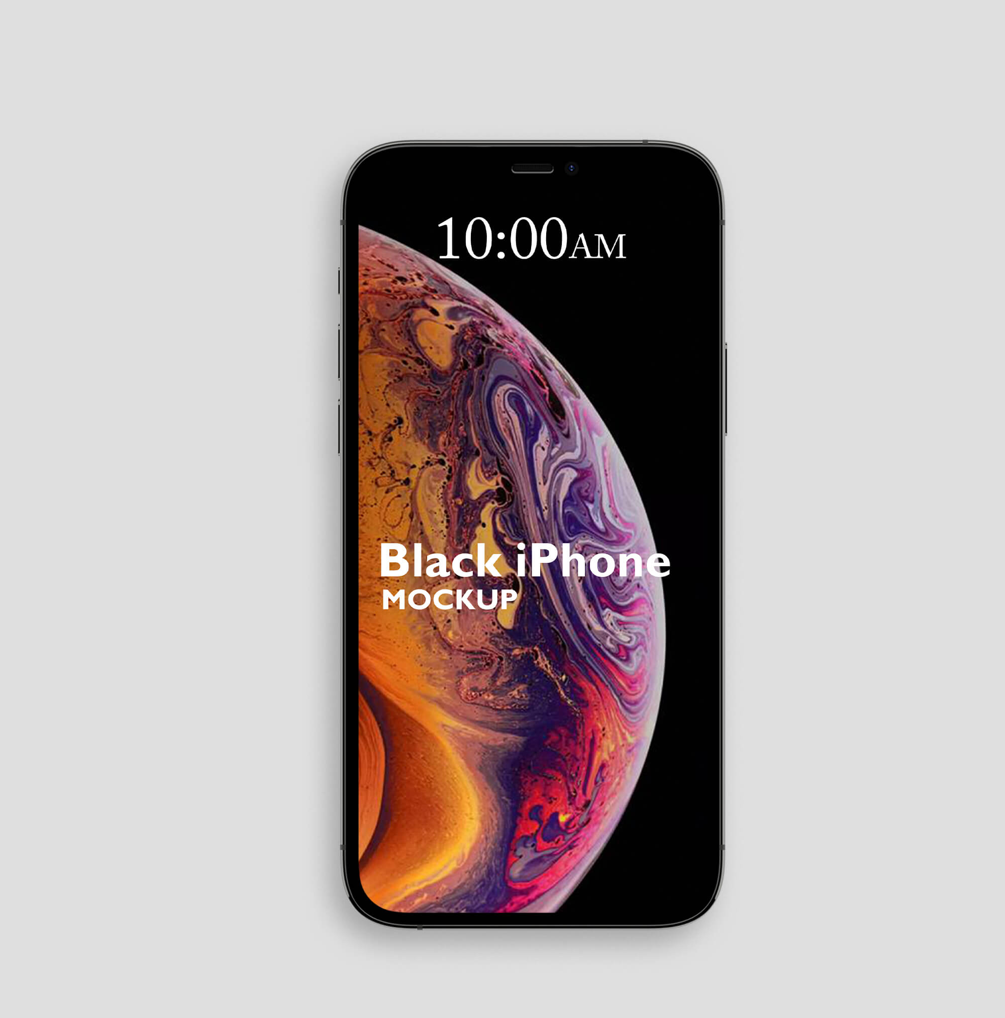 Design Free Black iPhone Mockup PSD Template