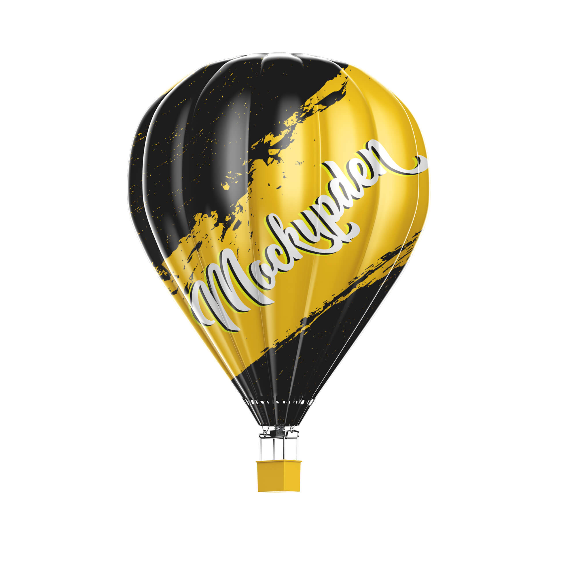 Design Free Hot Air Balloon Mockup PSD Template