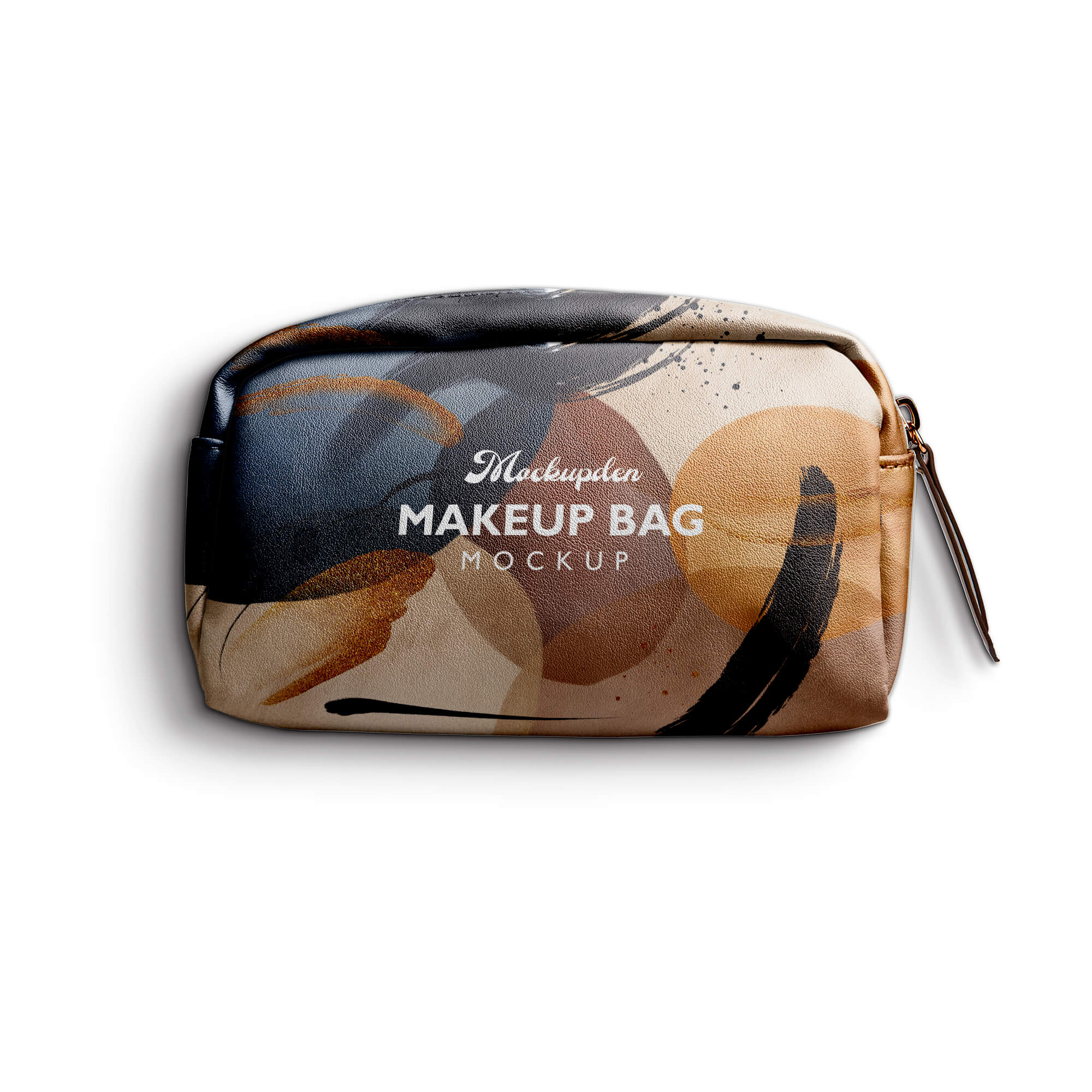 Design Free Makeup Bag Mockup PSD Template