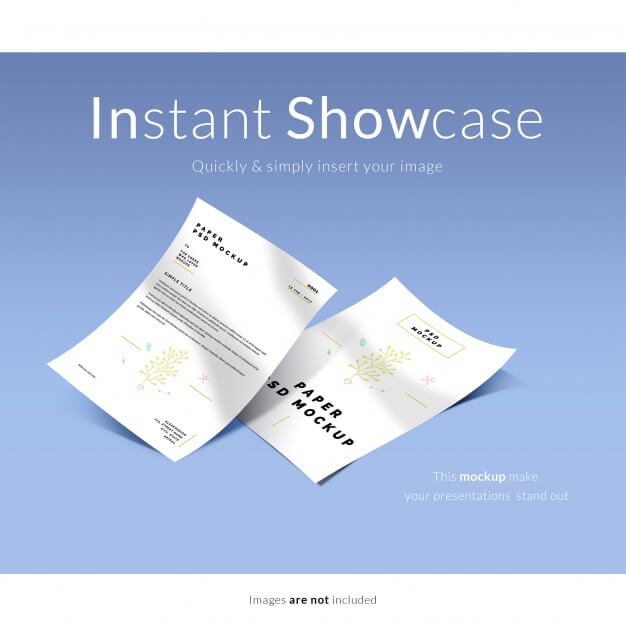 Document mock up Free Psd