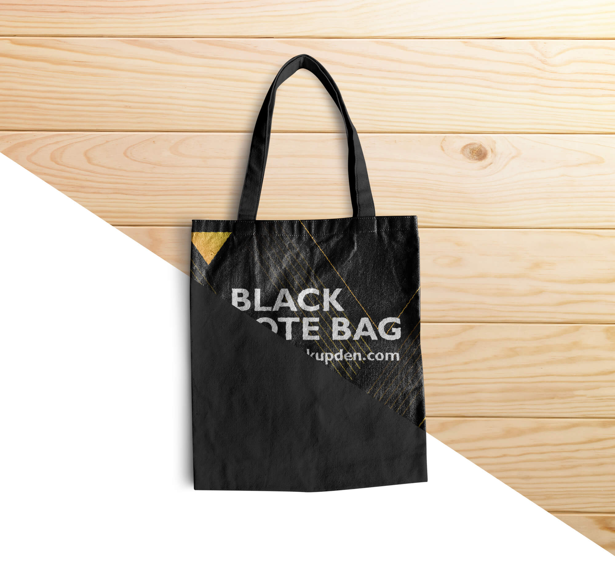 Editable Free Black Tote Bag Mockup PSD Template