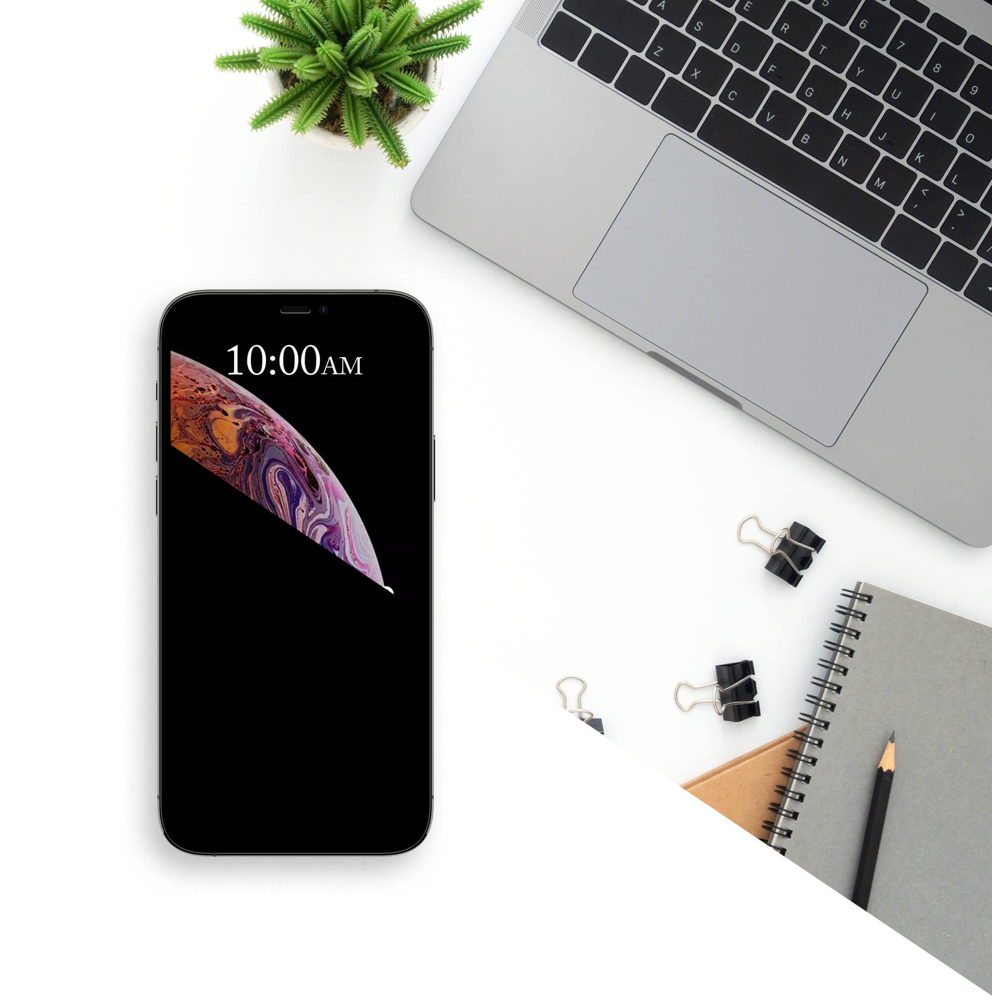 Editable Free Black iPhone Mockup PSD Template
