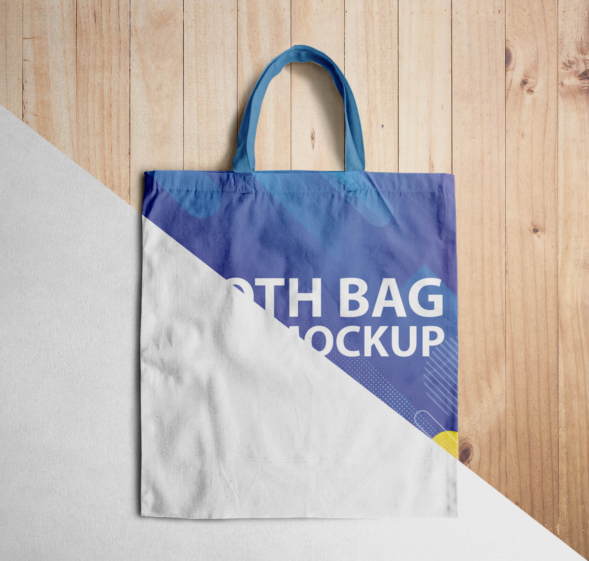 Editable Free Cloth Bag Mockup PSD Template