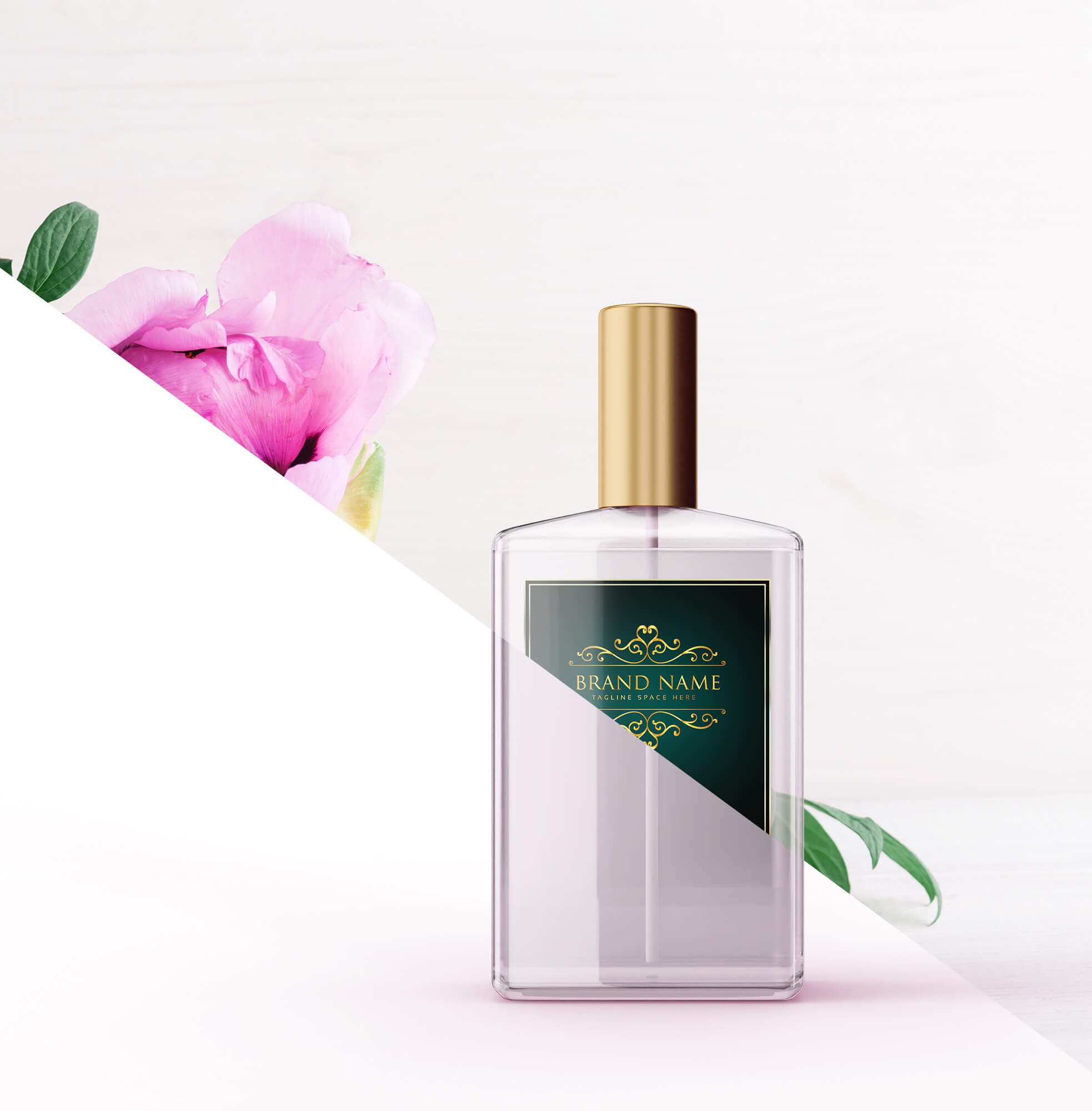 Editable Free Cologne Mockup PSD Template