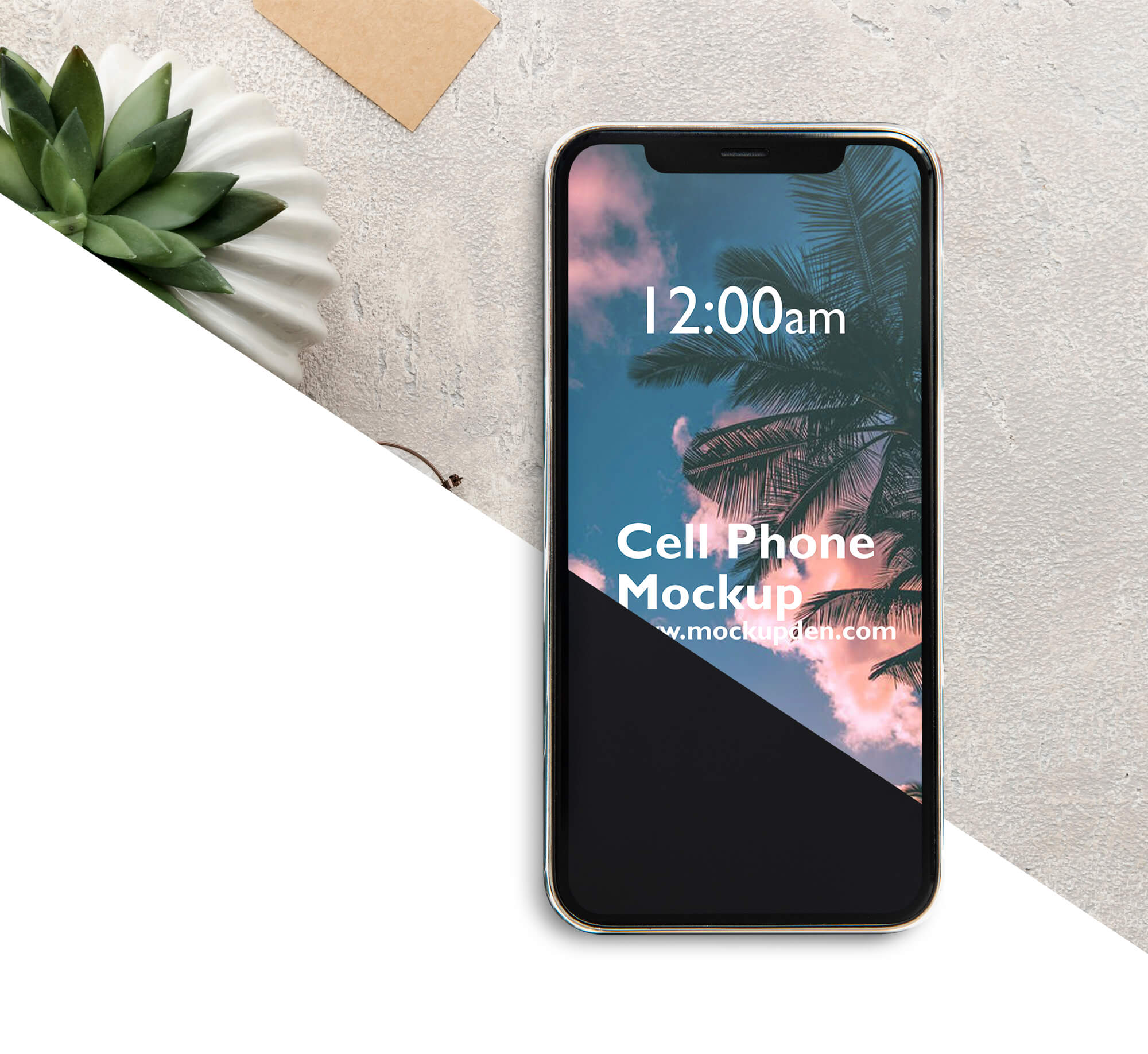 Editable Free cell Phone Mockup PSD Template