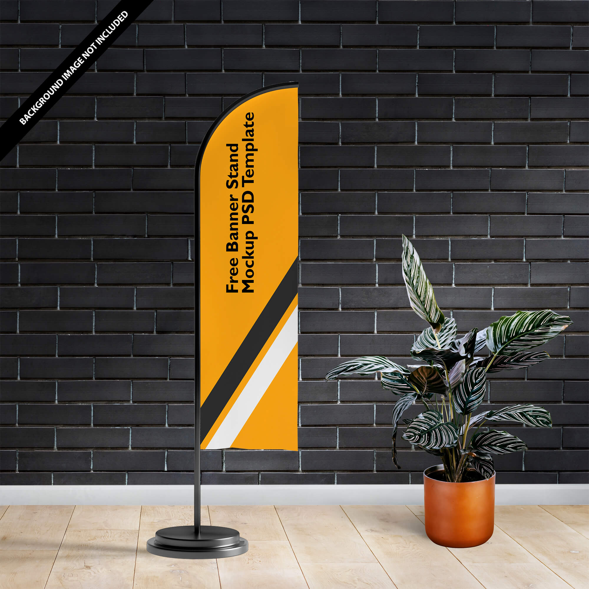 Free Banner Stand Mockup PSD Template