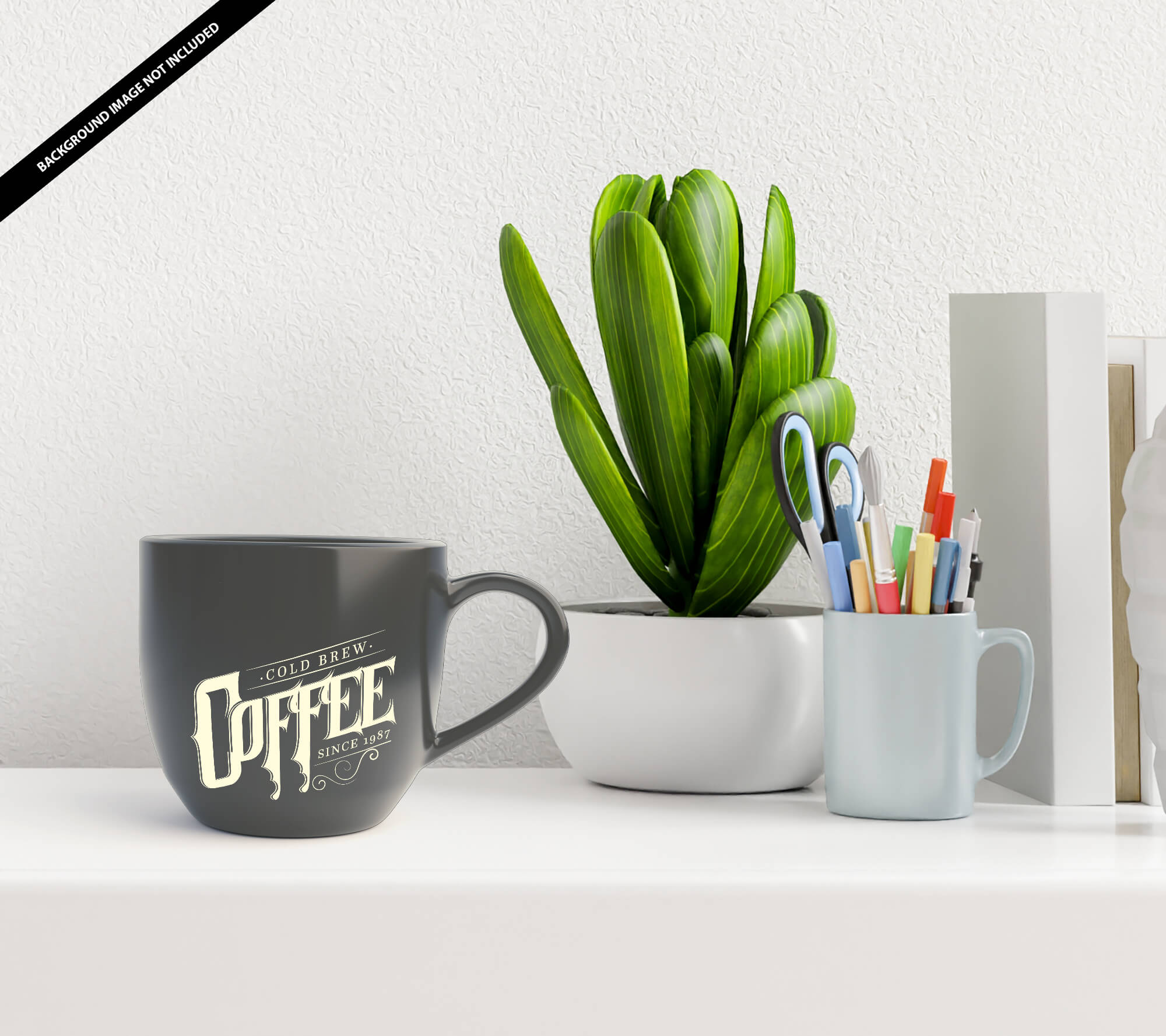 Free Black Cup Mockup PSD Template