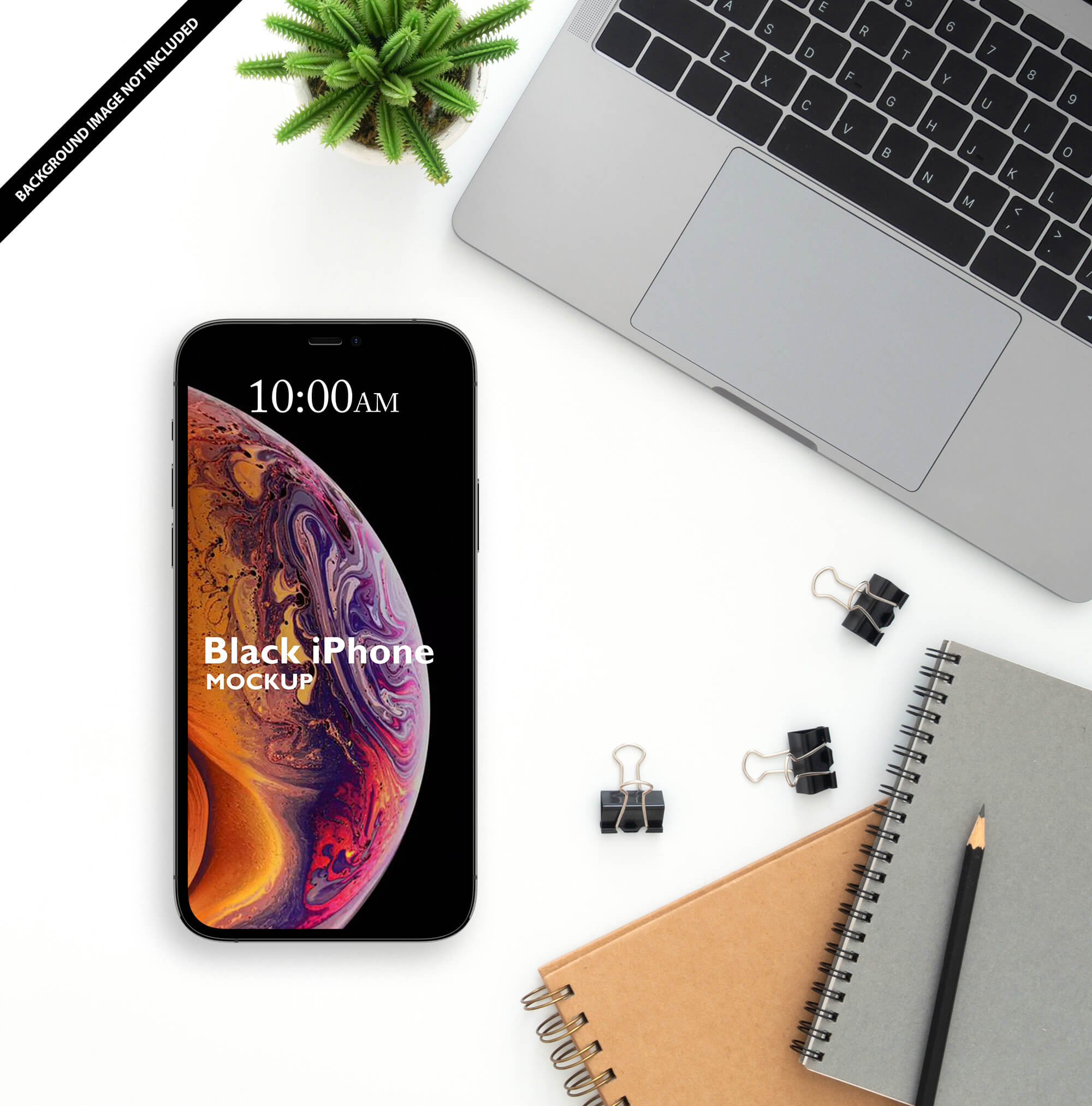 Free Black iPhone Mockup PSD Template