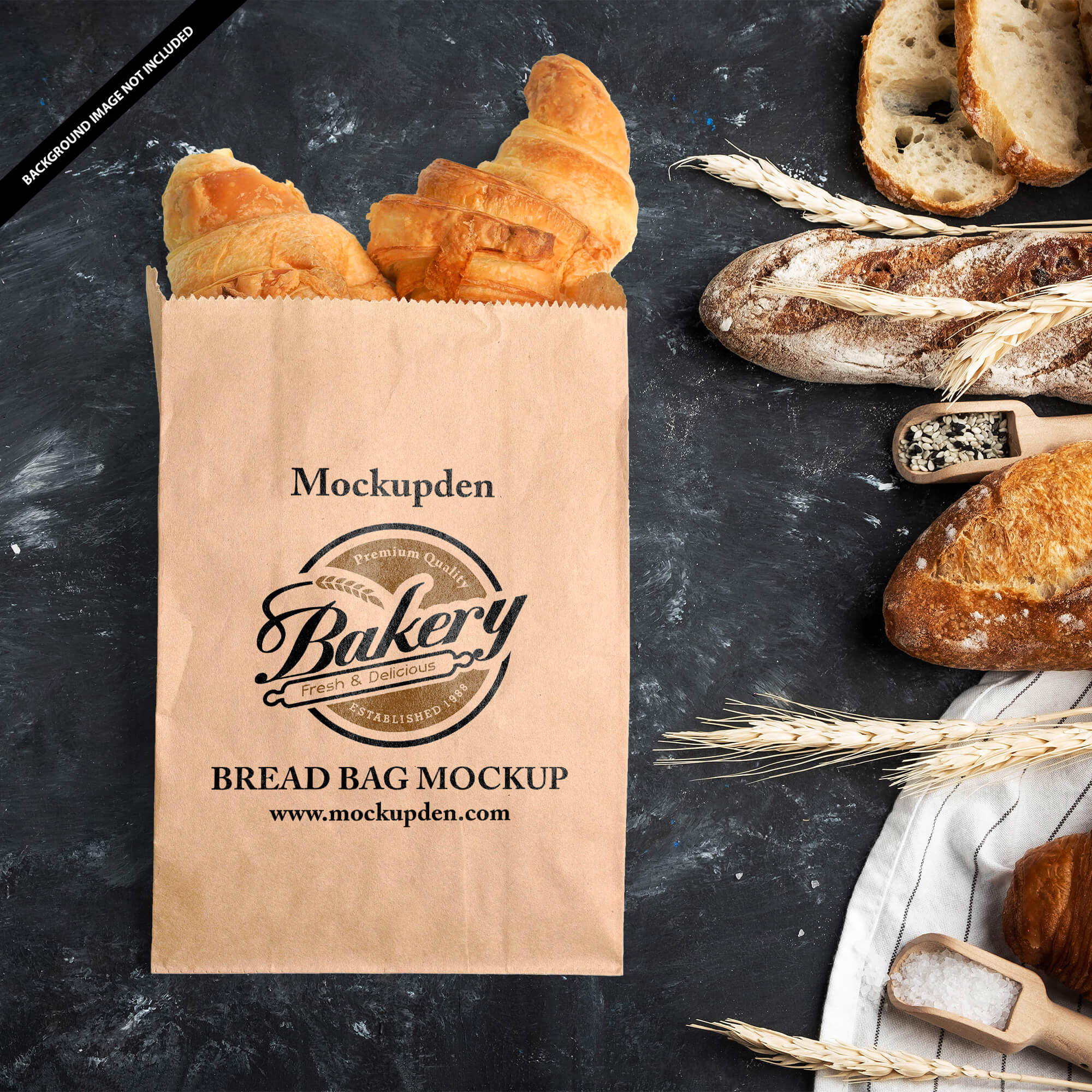 Free Bread Bag Mockup PSD Template