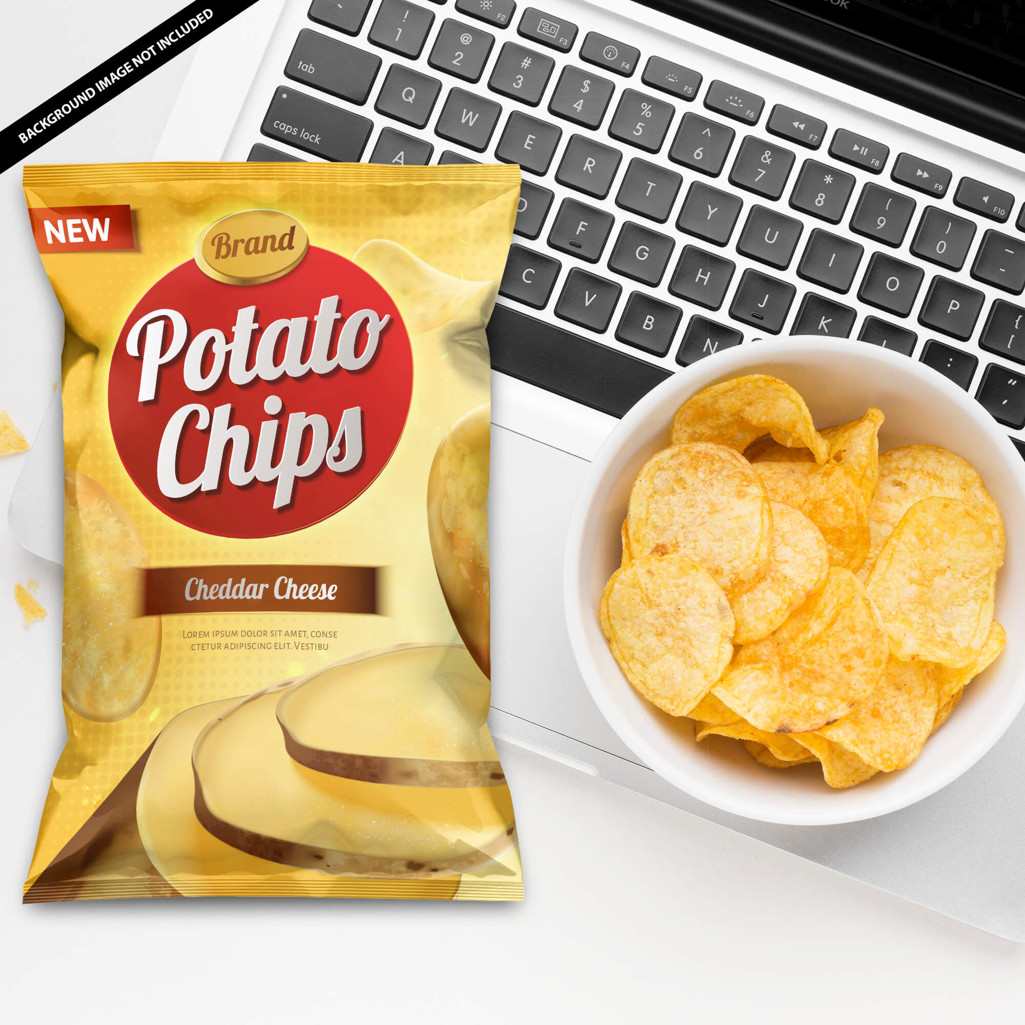 Free Chips Mockup PSD Template