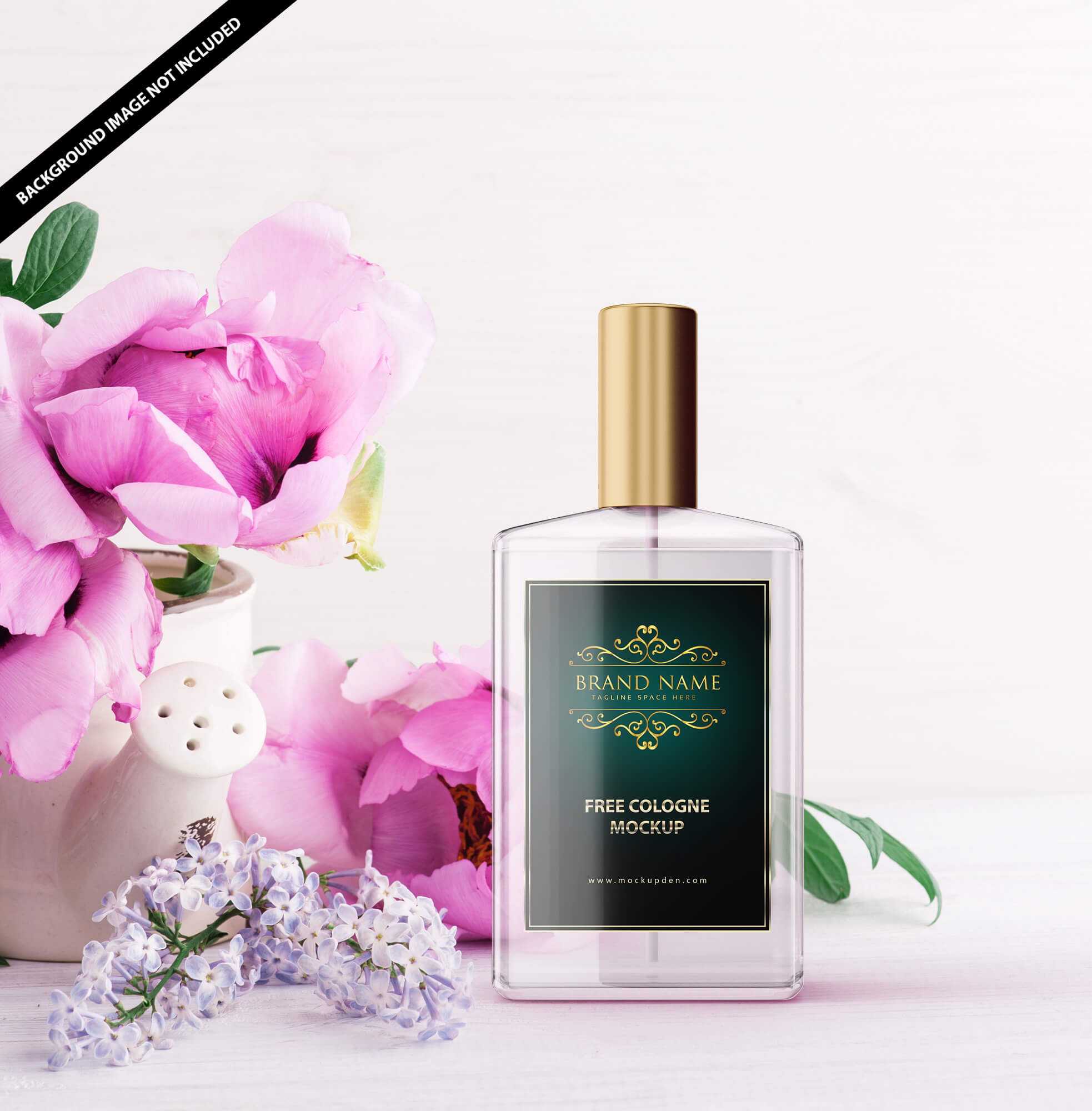 Free Cologne Mockup PSD Template