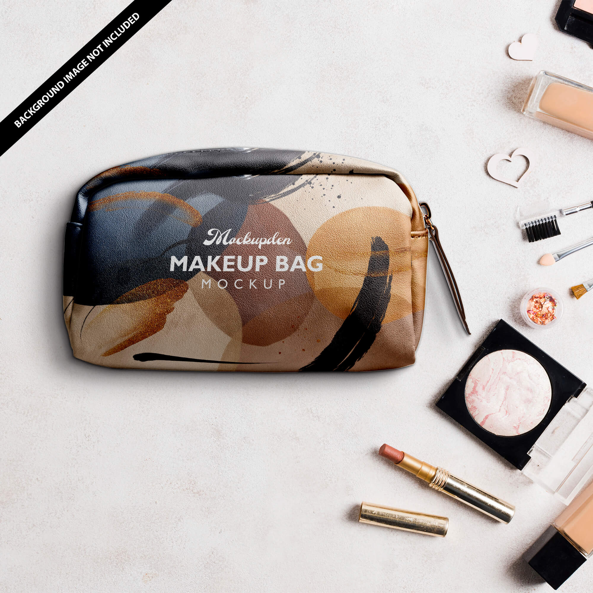 Free Makeup Bag Mockup PSD Template