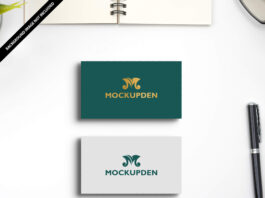 Free Name Card Mockup PSD Template