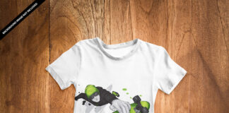 Free T Shirt Kids Mockup PSD Template