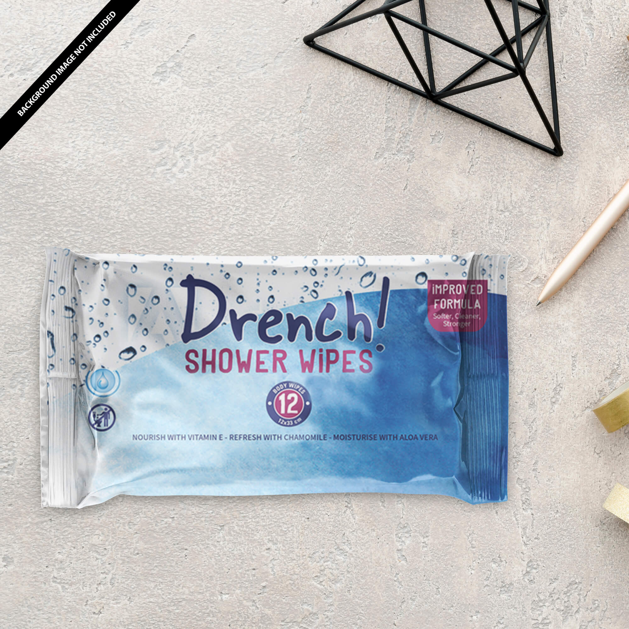Free Wet Wipes Mockup PSD Template