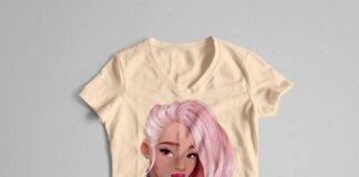 Free Woman T Shirt Mockup PSD Template