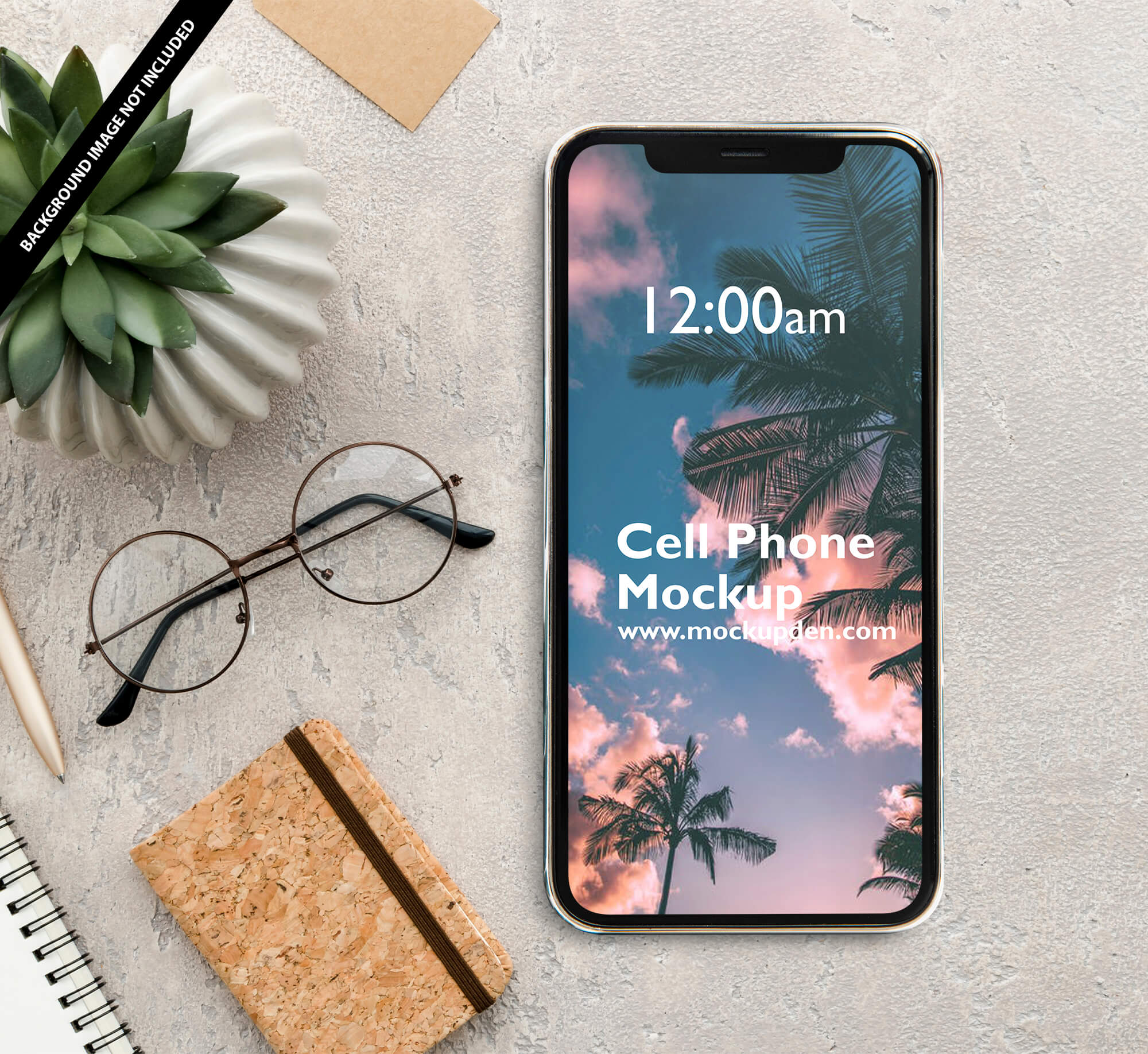 Free cell Phone Mockup PSD Template