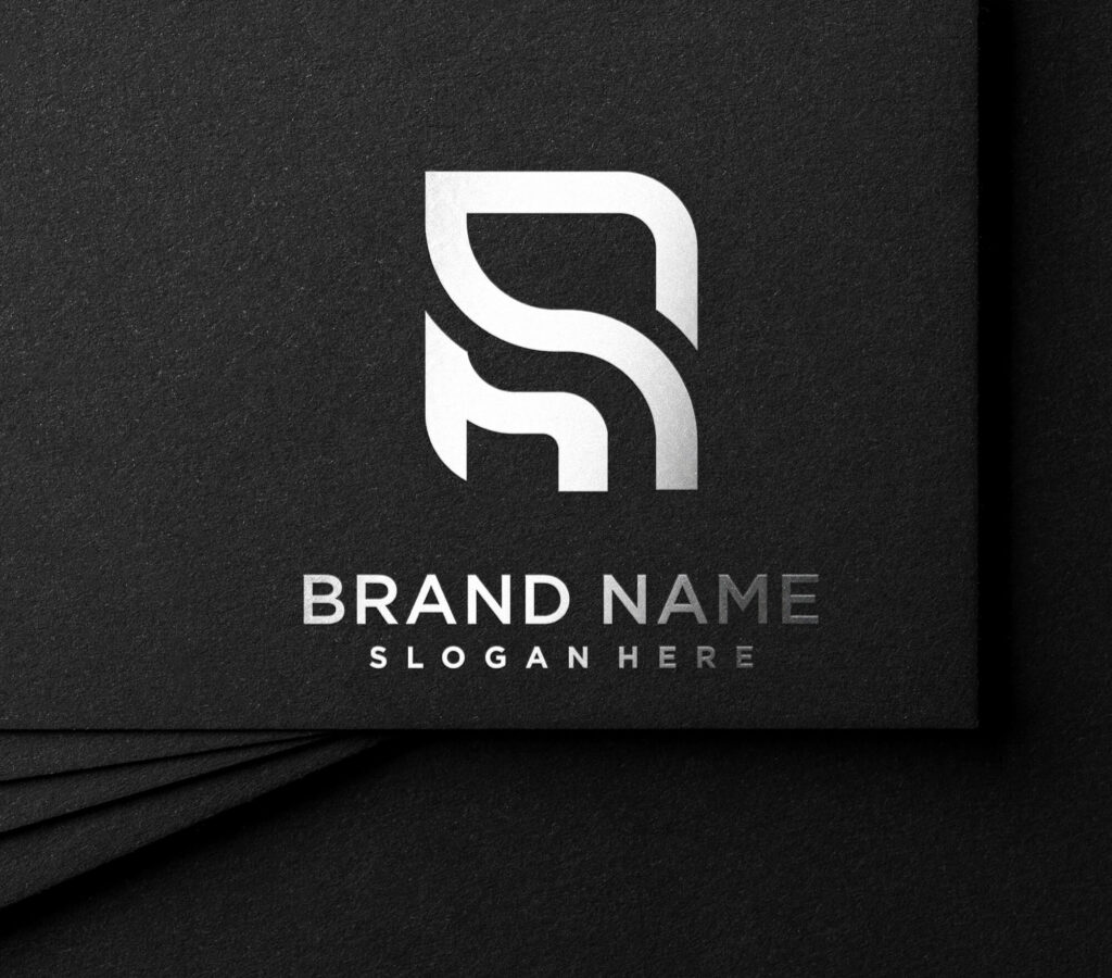 Free silver stamping logo mockup PSD Template