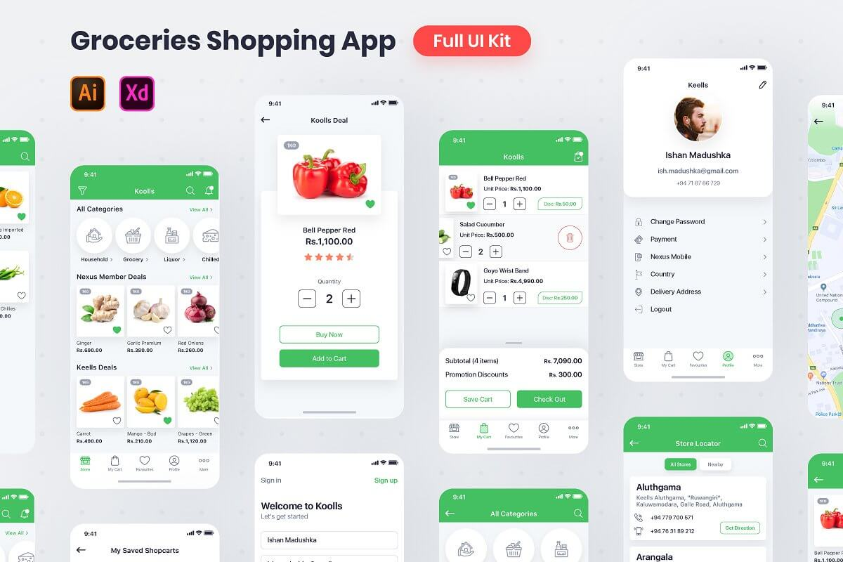 Grocery Shopping Full App