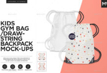 Kids Gym Bag Mock-up