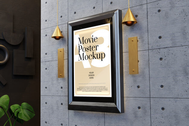 Movie poster mockup Premium Psd (1)