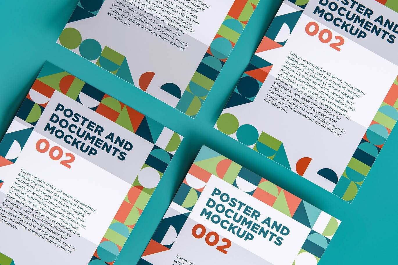 Poster And Documents Mockup 002
